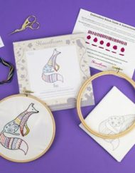 Hawthorn Handmade Contemporary Embroidery Fox Kit
