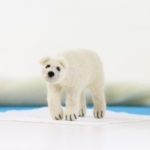 Hawthorn Handmade Polar Bear Needle Felting