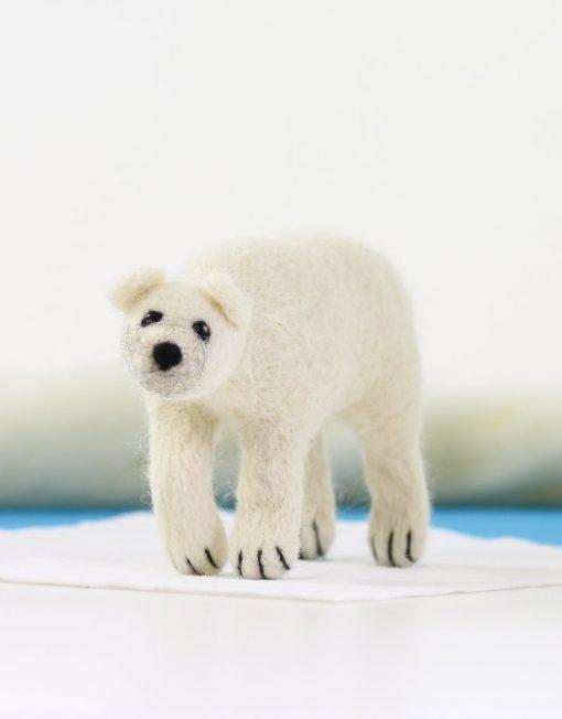 Hawthorn Handmade Polar Bear Needle Felting