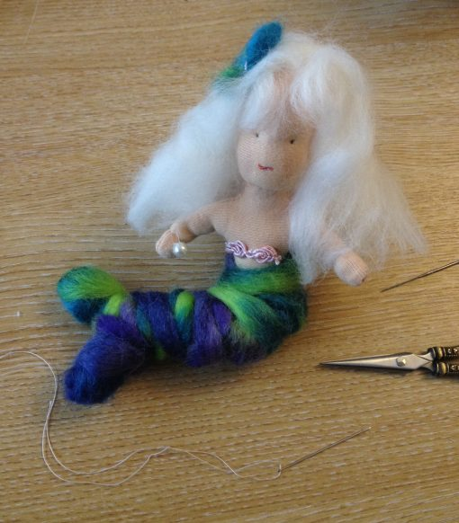 Mermaid made from De Witte Engel Doll Jersey