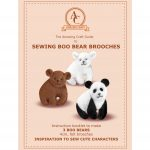 Sewing Boo Bear Brooches by Amazing Craft