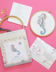 Hawthorn Handmade Sea Horse Contemporary Embroidery Kit
