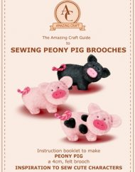 Sewing Peony Pig Felt Brooches - Amazing Craft