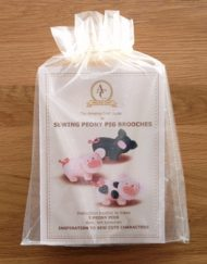 Sewing Peony Pig in organza bag packaging