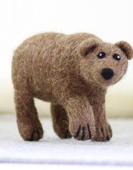 Hawthorn Handmade Grizzly Bear Needle Felted