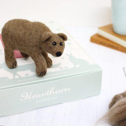 Hawthorn Handmade Needle Felted Bear