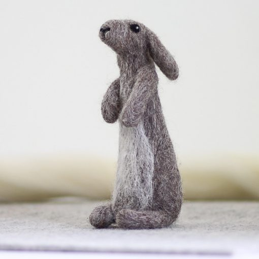 Hawthorn Handmade Needle Felted Rabbit From Kit