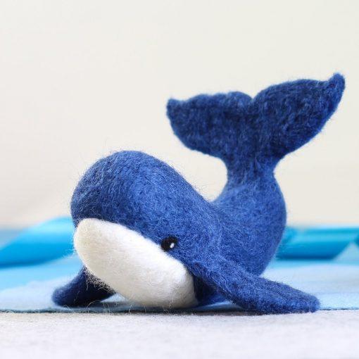 Hawthorn Handmade Needle Felted Blue Whale