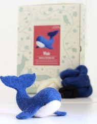Hawthorn Handmade Needle Felted Blye Whale Kit