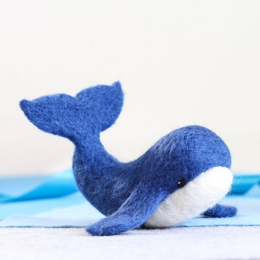 Hawthorn Handmade Needle Felted Blue Whale from Kit
