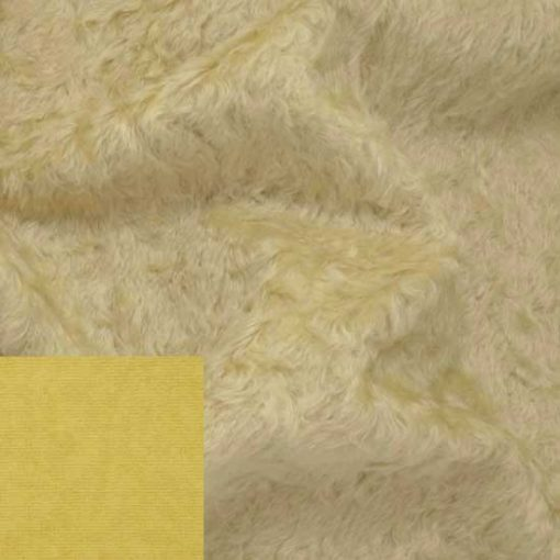 Helmbold Mohair Fabric 16mm Distressed Pale Yellow