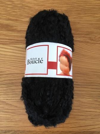De Witte Engel Doll Mohair Boucle Yarn Black