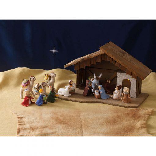 Mini Felt Christmas by Sachiyo Ishii nativity