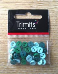 Trimits Green Mini Buttons