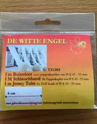 De Witte Engel Waldorf Tricot Tube Jersey Gauze