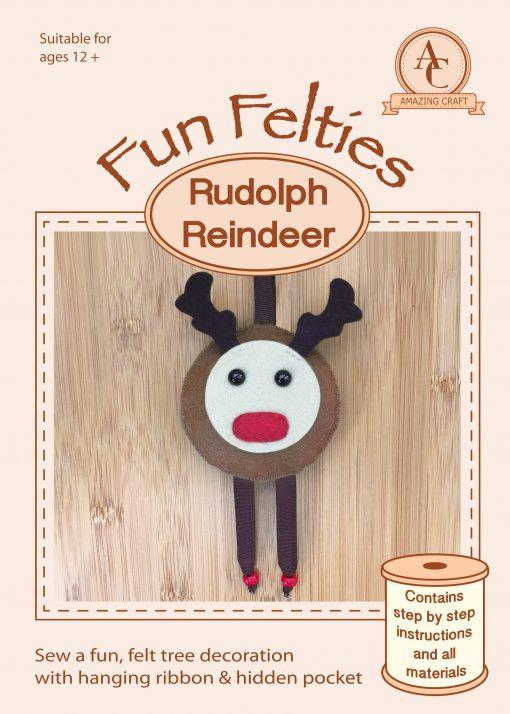 Amazing Craft Fun Felties Kit Cover Rudolph Reindeer