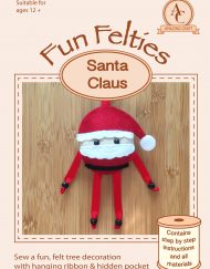 Amazing Craft Fun Felties Kit Cover Santa