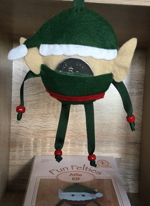 Fun Felties Alfie Elf Hidden pocket