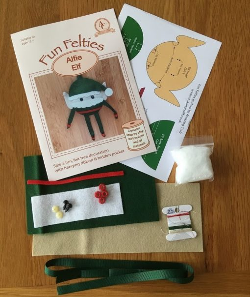 Fun Felties Alfie Elf Kit contents