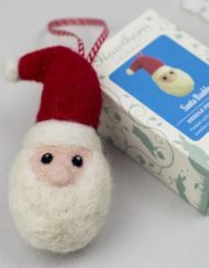 Hawthorn Handmade Needle Felted Santa Bauble and box