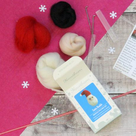Hawthorn Handmade Needle Felted Santa Bauble contents