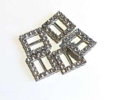 10mm Mini Diamante Buckles