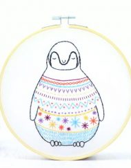 Hawthorn Handmade Baby Penguin Contemporary Embroidery