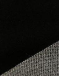 Mini Stoffe Fabric - Black & woven backing