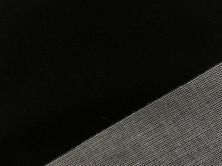 Mini Stoffe Fabric - Black & woven backing