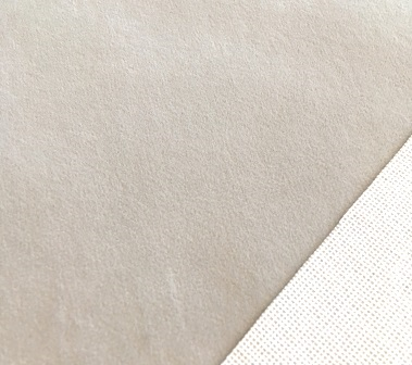 Mini Stoffe Fabric - Soft Grey & woven backing