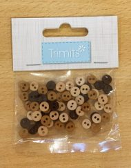 Trimits mini buttons 6mm - browns