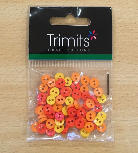 Trimits orange and yellow mini buttons