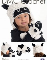 DMC Sheep hat & mittens crochet pattern