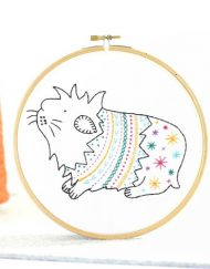 Hawthorn Handmade Guinea Pig Contemporary Embroidery Kit