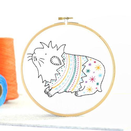 Hawthorn Handmade Guinea Pig Contemporary Embroidery Kit