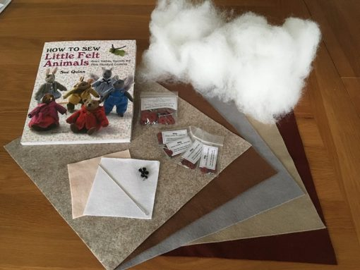 How to sew little felt animals Sue Quinn kit