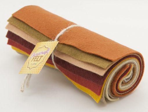 Wool Felt Mini Roll - Autumn