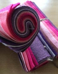 Wool Felt Mini Roll - Pretty Berries