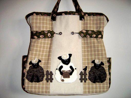 Woolly Jumper Knitting Bag Brenda Walker front