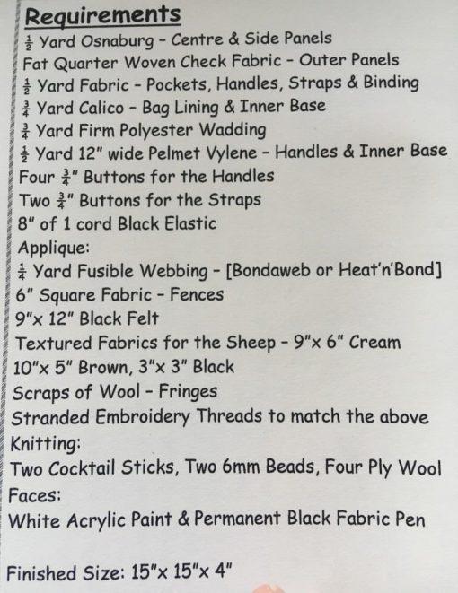 Woolly Jumper Knitting Bag Brenda Walker materials