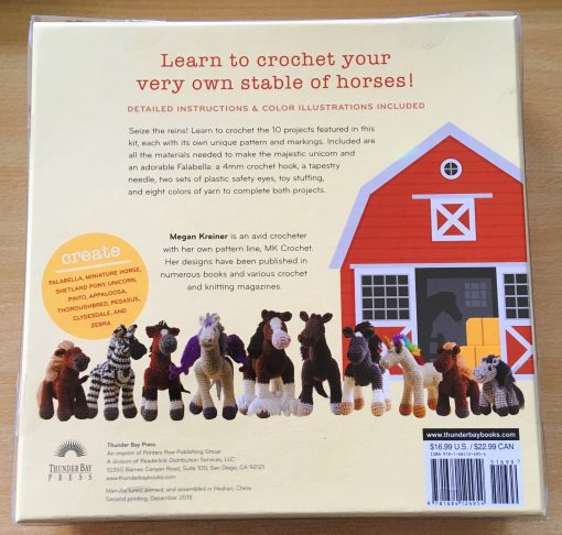 Crochet horses and ponies kit - back of box