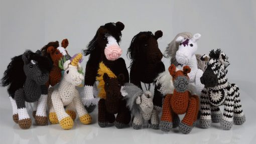 Crochet horses and ponies kit - full stable