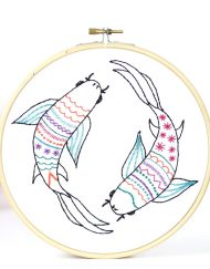 Hawthorn Handmade Koi Carp Contemporary Embroidery Kit