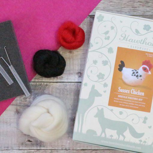 Hawthorn Handmade Sussex Chicken Needle Felted Kit