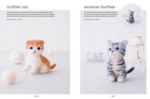 Cute Needle Felted Animal Friends cats