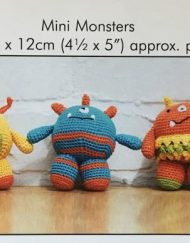 DMC Crochet Amigurumi pattern mini monsters
