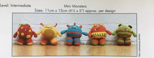 DMC Crochet Amigurumi pattern mini monsters