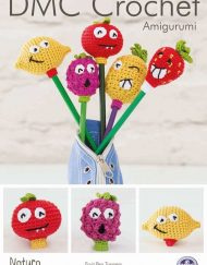 DMC Crochet pattern pen toppers fruit