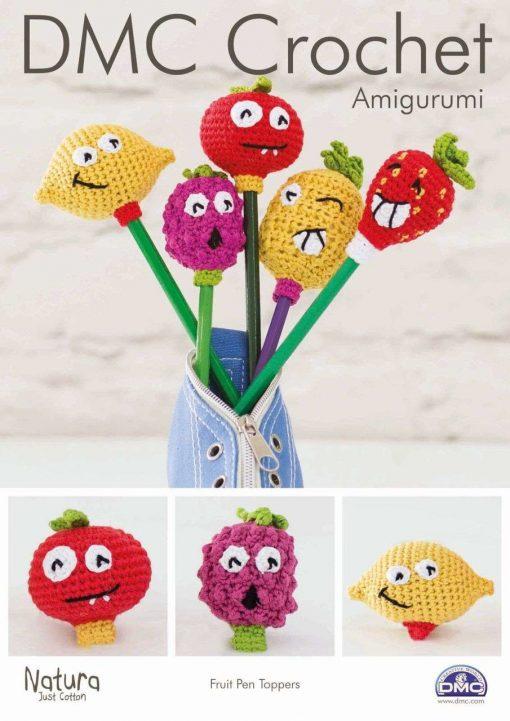 DMC Crochet pattern pen toppers fruit