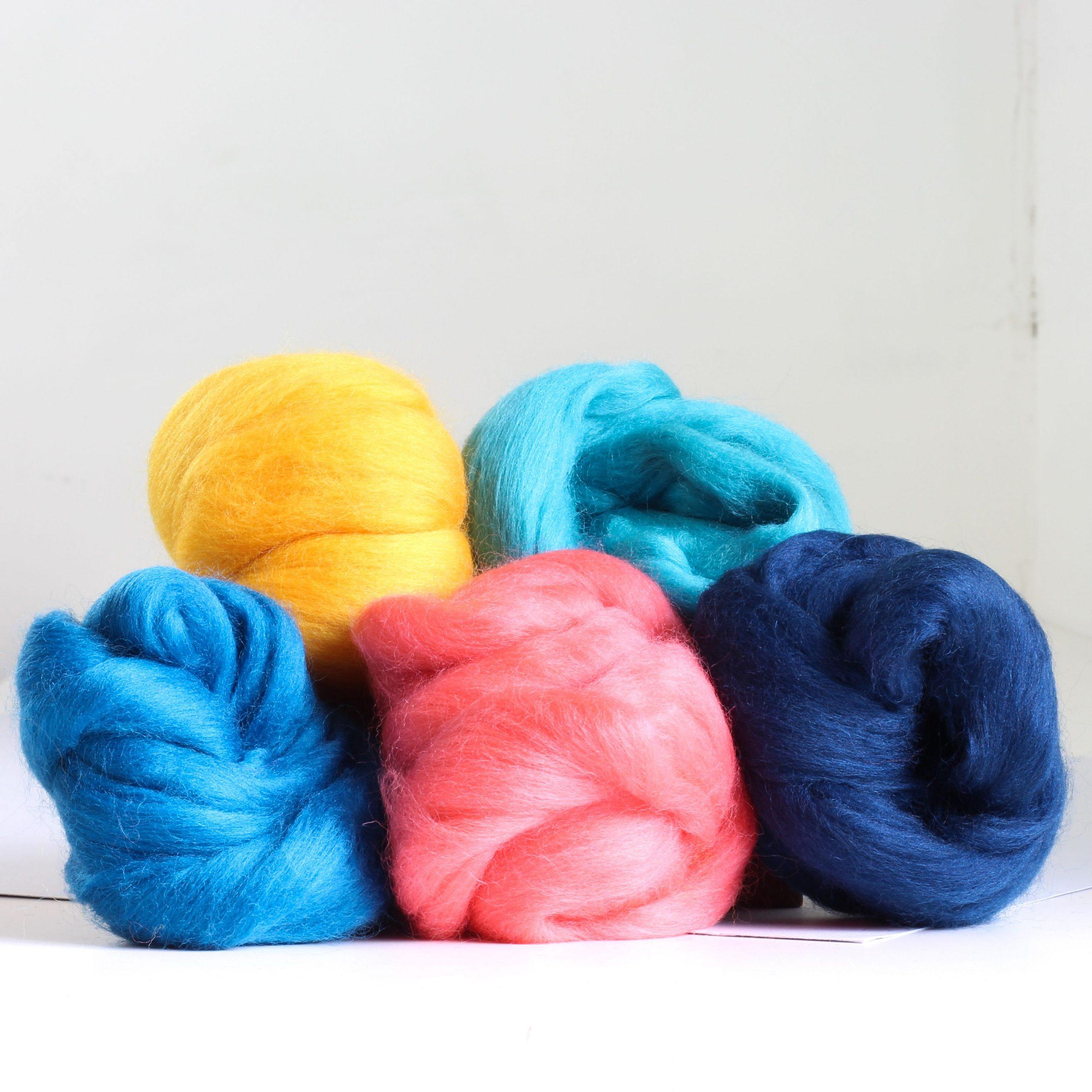 Hawthorn Handmade Needle Felting Merino Wool - Ocean